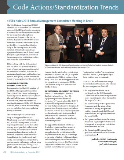 NEMA Electroindustry Magazine - IECEx